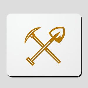 Pick Axe Shovel Crossed Retro Mousepad