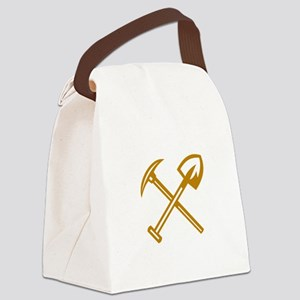Pick Axe Shovel Crossed Retro Canvas Lunch Bag