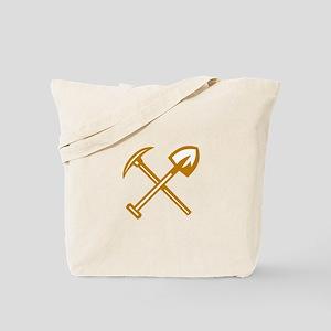 Pick Axe Shovel Crossed Retro Tote Bag