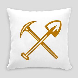Pick Axe Shovel Crossed Retro Everyday Pillow