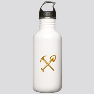 Pick Axe Shovel Crossed Retro Water Bottle