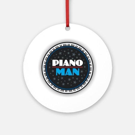 PIANO MAN Round Ornament