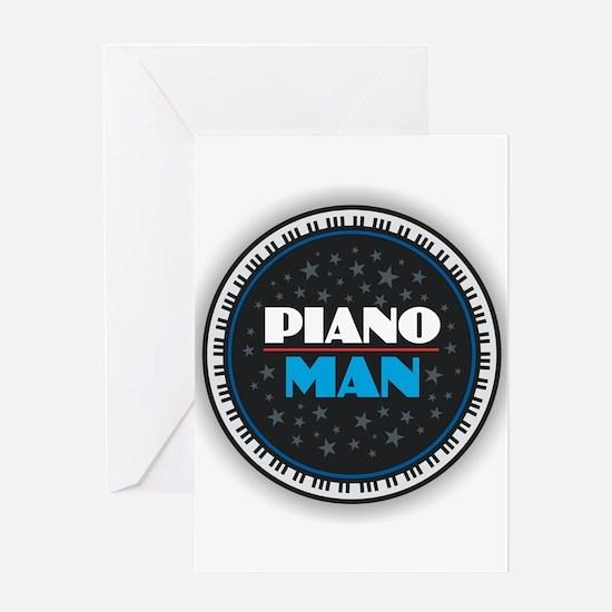 PIANO MAN Greeting Cards