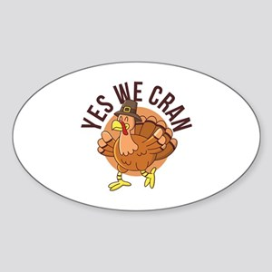 Yes We Cran Sticker (Oval)