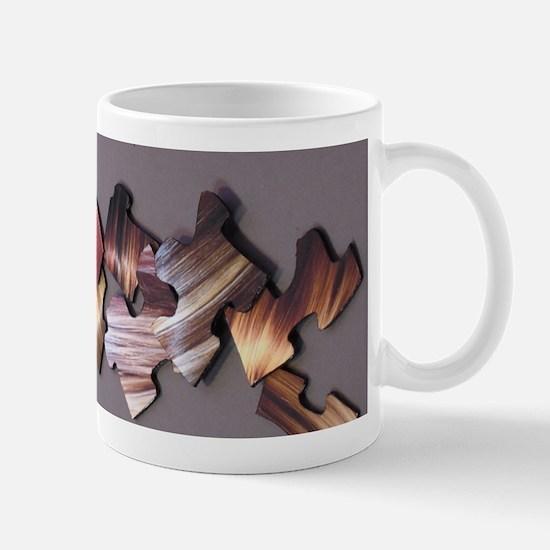 Hair Puzzle #4 Ceramic Mug / Gray Background Mugs