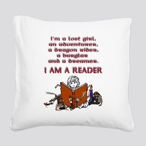 I'm a reader Square Canvas Pillow