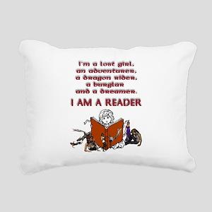 I'm a reader Rectangular Canvas Pillow