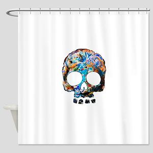 Death Flower Shower Curtain