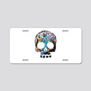 Death Flower Aluminum License Plate