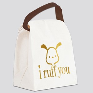 I Ruff You Canvas Lunch Bag