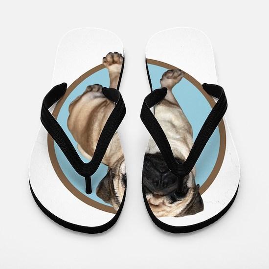 Cute Pug or pugs Flip Flops