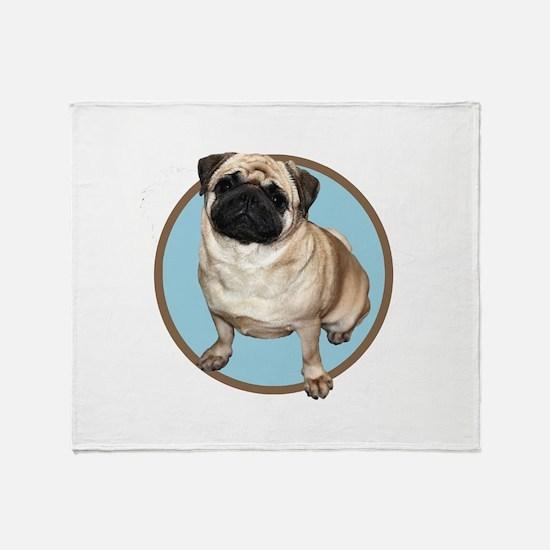 Funny Pugs not drugs Throw Blanket