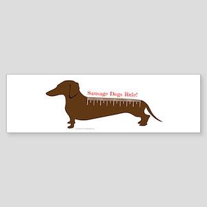 Sausage Dogs Rule Bumper Sticker