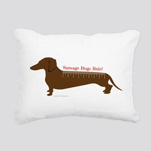 Sausage Dogs Rule Rectangular Canvas Pillow