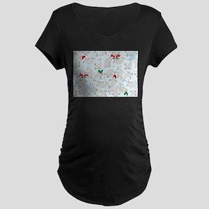 christmas Manatee Maternity T-Shirt