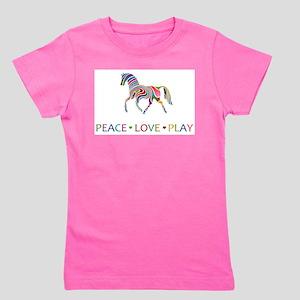 Rainbow horse peace love play T-Shirt