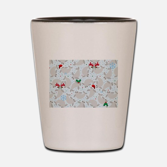 christmas Manatee Shot Glass