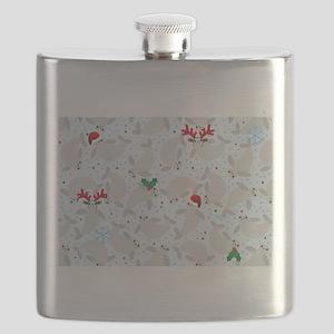 christmas Manatee Flask