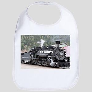 Steamy!: steam train engine, Colorado, US Baby Bib