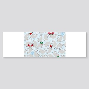 christmas Manatee Bumper Sticker