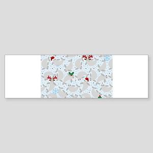 christmas Manatee Bumper Sticker