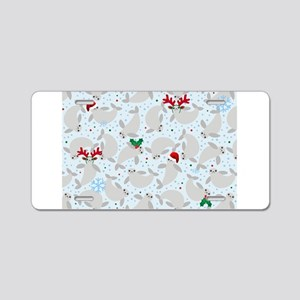christmas Manatee Aluminum License Plate