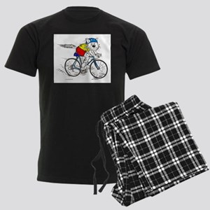 Bicycle Cat in color Pajamas