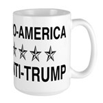 Pro America Anti Trump Large Mug