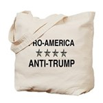 Pro America Anti Trump Tote Bag