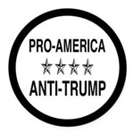 Pro America Anti Trump Round Car Magnet