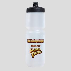 Super Power-Cheeseburgers Sports Bottle