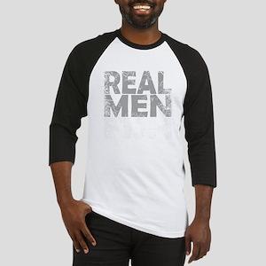 REAL MEN FISH - WHITE Baseball Jersey