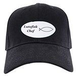 Lutefisk Chef Black Cap with Patch