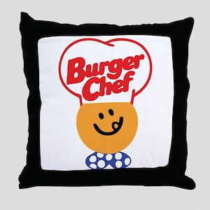 Burger Chef Throw Pillow