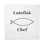 Lutefisk Chef Queen Duvet