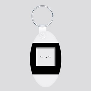 Your Logo Here over Black Background Keychains