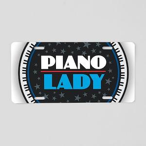 PIANO LADY Aluminum License Plate