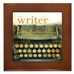 typewriterwriter Framed Tile