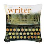 typewriterwriter Woven Throw Pillow