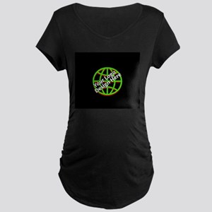 Your Logo over a Black Background Maternity T-Shir
