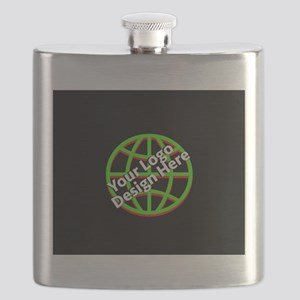Your Logo over a Black Background Flask