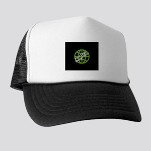 Your Logo over a Black Background Trucker Hat