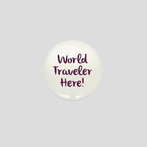 World Traveler Mini Button