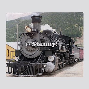 Steamy!: steam train engine, Colorad Throw Blanket