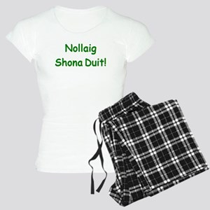 nollaig shona duit Women's Light Pajamas