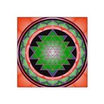 "Square Sticker 3"" X 3"" Sacred Geometry"