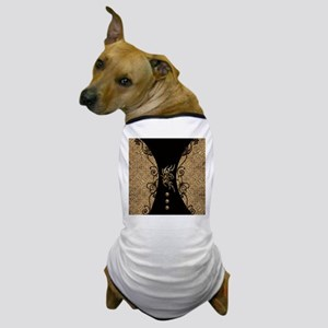 The dragon, tribal with flowers Dog T-Shirt