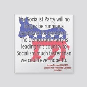 Thomas Democratic Socialism Sticker