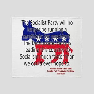 Thomas Democratic Socialism Throw Blanket
