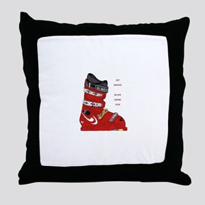 ski boot Throw Pillow